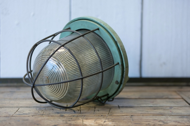 Keuken Grijs Groen : Hanglamp Keuken : Industri?le kleine bully kooi hanglamp grijs groen