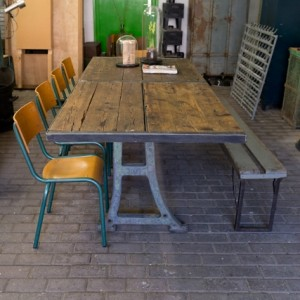 Verkocht hal72 - Tafel eetkamer industriele ...
