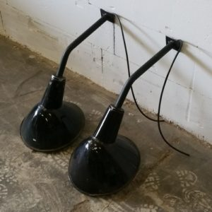 Industriele wandlamp emaille zwart  Hal 72 stoer industrieel wonen meubels lampen en woonaccessoires 1